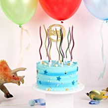 12 Pieces Twisty Birthday Candles Spiral Cake Candles with Holders Metallic Cake Cupcake Candles Long Thin Curly Coil Cake...