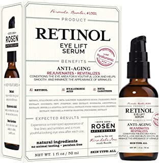 Rosen Apothecary Retinol: Eye Lift Serum with Hyaluronic 1oz / 30ml