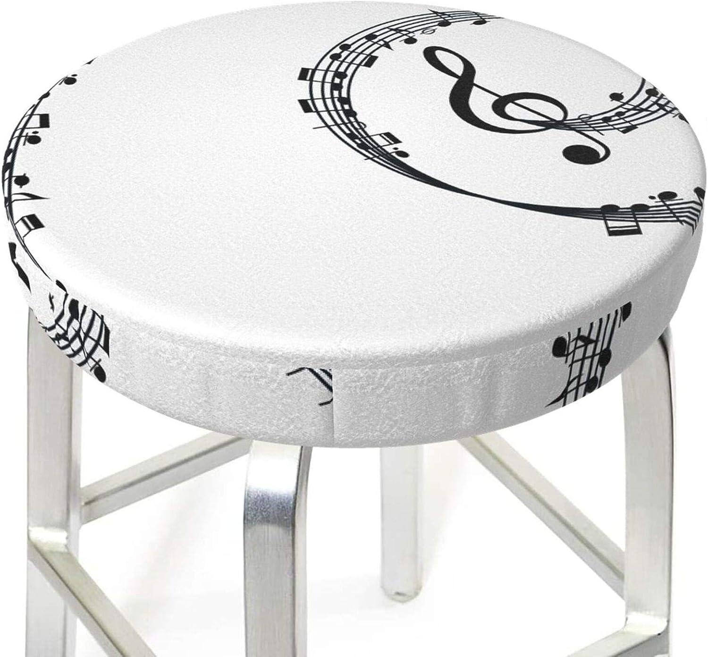 Round Bar Stool Covers Pub Salon Chair Seat Cover Protector Cushion Sleeve Gray