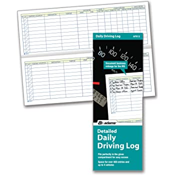Adams Detailed Daily Driving Log, 400 Entries, 9 x 3.25 Inches, Multi-Color (AFR15)