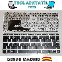 TECLA2XTATIL TC2X Teclado para portatil HP EliteBook 745 G3 745 G4 840 G3 840 G4 848 G3 848 G4 español Plata Gris
