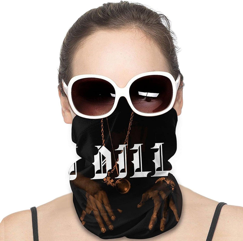 J Dilla Men Women Neck Gaiter Multifunctional Uv Protection Face Mask Fashion Scarf Hip-Hop Bandana Hiking Headwear Neck Scarf Balaclava