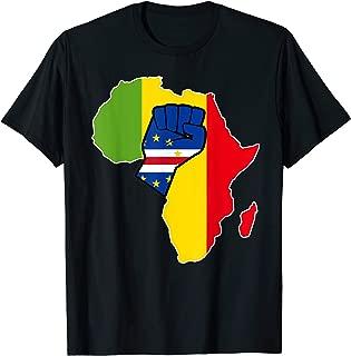 Cape Verdean pride Cape Verde flag Africa map t-shirt