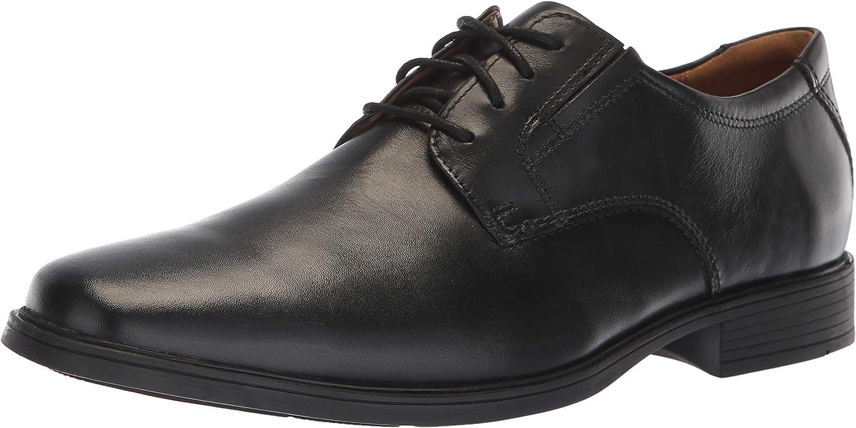 CLARKS männens männens männens TildenPlain II Loafer, svart vattentät Läder, 120 M USA  rabattbutik