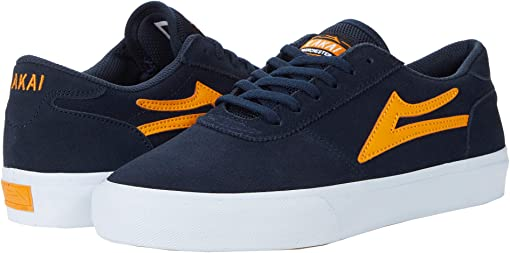 Navy/Orange Suede