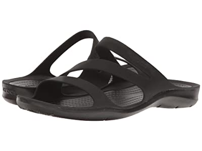 Crocs Swiftwater Sandal (Black/Black) Women