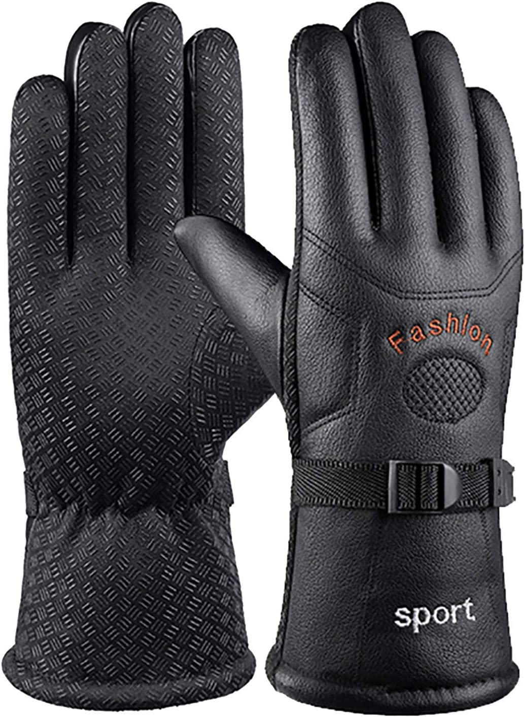 Warm Winter Ski Gloves, Waterproof and Windproof Outdoor Mountaineering and Cycling Gloves.