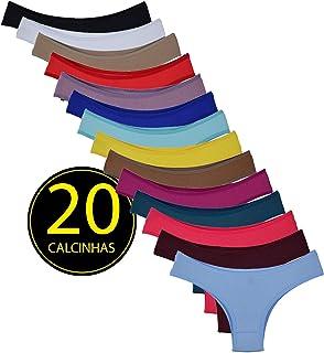 Kit 20 Calcinhas Conforto Coloridas