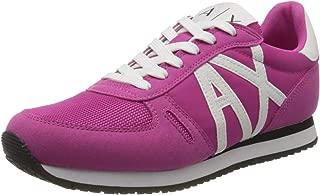 Armani Exchange A X Women's Microfiber Suede Logo Trainer Sneaker