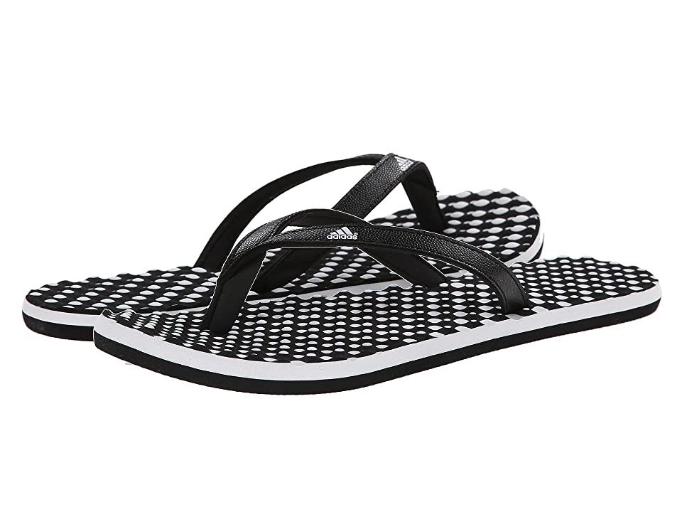 Slip into soft comfort with the uniquely designed Eezay Dots flip-flops from adidas. Synthetic thong construction for comfort and style. Massage beads on the footbed provide instant and all-day comfort. Soft  cushioned upper lining. Grippy rubber outsole. Imported. Measurements: Weight: 3 oz Product measurements were taken using size 8  width B - Medium. Please note that measurements may vary by size. Weight of footwear is based on a single item  not a pair.