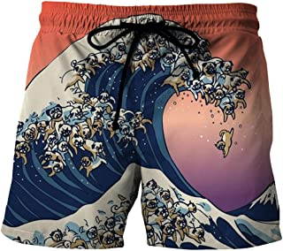 Men'S Clothing Quick-Drying Beach Shorts 3D Printed Casual