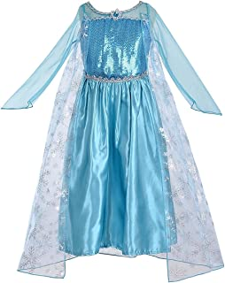 Princess Inspired Girls Snow Queen Party Costume Dress