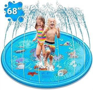 "(68"") Inflatable Splash Pad Sprinkler for Kids Toddlers, Kiddie Baby Pool, Outdoor Games Water Mat - Baby Infant Wadin Swi..."