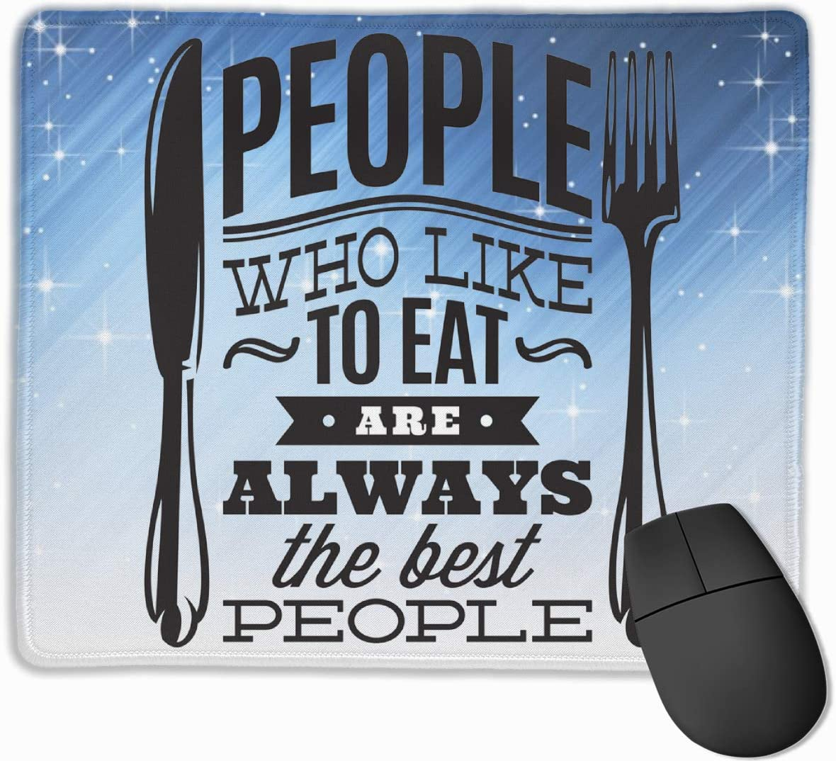 People Who Love to Eat Kitchen Rectangle Non-Slip Rubber Mousepad Gaming Mouse Pad 25X30cm