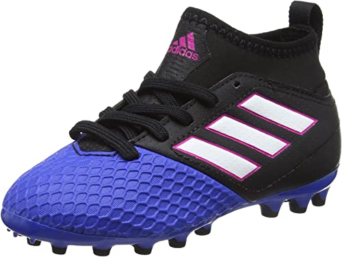 Adidas Ace 17.4 Sala In, Chaussures de Football Mixte Enfant, Noir (Core noir footwear blanc bleu), 36 2 3 EU