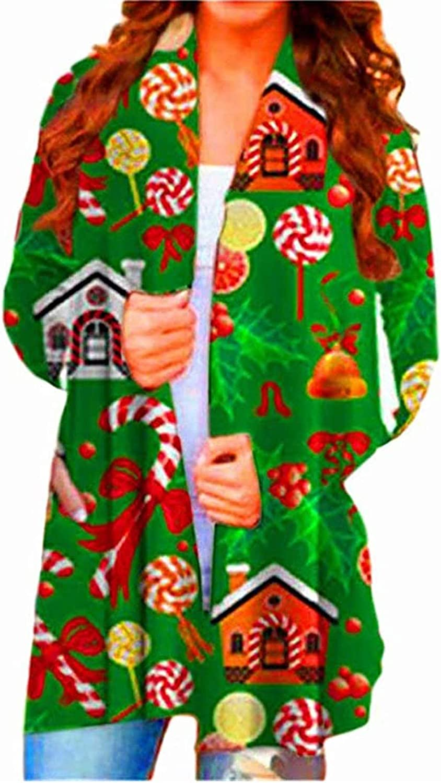 Sweaters for Women Open Front,Wamajoly Women's Long Sleeve Chunky Knit Winter Sweater Casual Cardigan Outwear