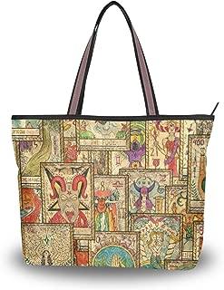 My Daily Women Tote Shoulder Bag Tarot Cards Vintage Handbag