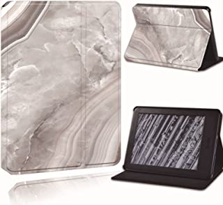 for Amazon Kindle 8Th 10Th Paperwhite 1/2/3/4 Printed Leather Smart Reader Stand Folio Cover-Ultra-Thin Marble Tablet Stan...