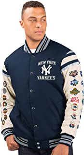 G-III Sports New York Yankees Men's 27 Time World Series Champions Victory Formation Varsity Jacket