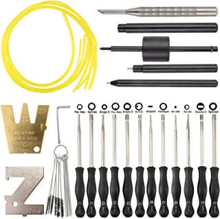MOTOALL 12 PCS Carburetor Adjustment Tool Carb Adjusting Kit with ZT-1 500-13 Metering Lever Tool for 2-Cycle Small Engine...