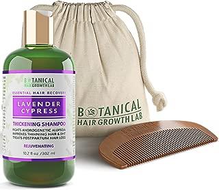 Botanical Hair Growth Lab Anti Hair Loss Shampoo Alopecia DHT Blocker Postpartum Lavender - Cypress Hair Growth Botanical For Hair Thinning Prevention 10.2 Fl Oz