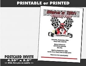 go kart party invitations