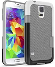 Galaxy S5 Case, TILL(TM) Ultra Slim 3 Color Hybrid Impact Anti-Slip Shockproof Soft TPU Hard PC Bumper Extra Front Raised Lip Case Cover for Samsung Galaxy S5 I9600 GS5 G900V [Light Gray]