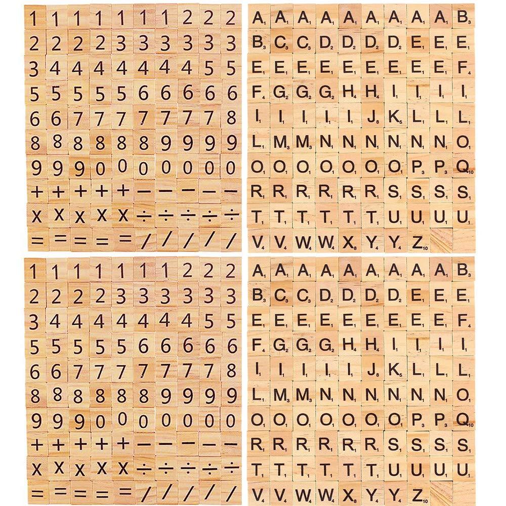 JoGoi 200PCS Letras Scrabble Alfabeto A a Z 200PCS número Scrabble para Manualidades DIY Decoración Educación Infantil Palabras en Inglés para Niños Juegos Azulejos Scrabble(400PCS): Amazon.es: Juguetes y juegos