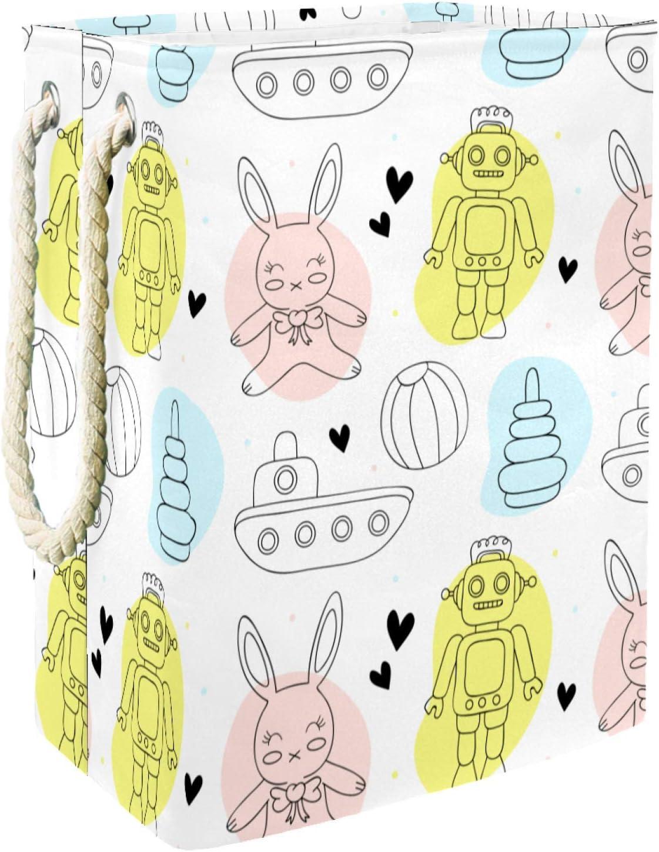 Cartoon Robot Rabbit Tank Pattern Basket Laundry All items free shipping Long-awaited Baskets Storage