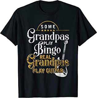 Real Grandpas Play Guitar Gifts Music Guitar T-Shirt