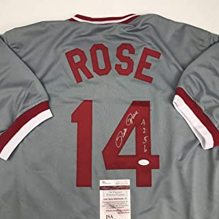 pete rose framed jersey