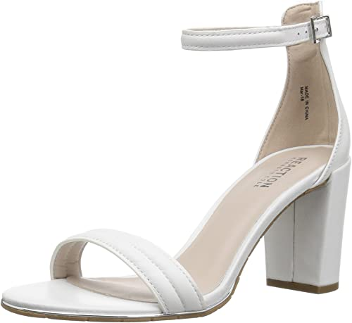 Kenneth Cole REACTION Wohommes Lolita Strappy Heeled Sandal, blanc, 7.5 M US