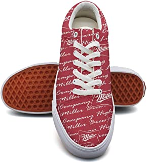 Girl Camouflage Canvas Shoes Straps Miller-Brewing-Company-High-Life-Beer-Champagne-Bottle-red- Classic Sneakers Suitable for Walking