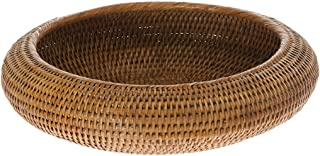 KOUBOO La Jolla Rattan Fruit Bowl, Honey Brown