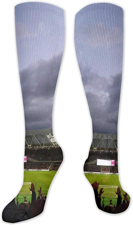 London Stadium Knee High Socks Leg Warmer Dresses Long Boot Stockings For Womens Cosplay Daily Wear
