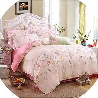 Grey Bedding Set 2018 Summer Bed Linens 3Or 4Pcs/Set Duvet Cover Set Pastoral Bed Set Kids/Adult Bedding Bedclothes Queen Kin,Eating Ness,King