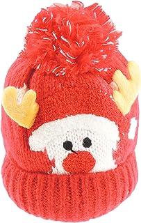 Glamour Girlz, Glamour Girlz Gorro de invierno súper suave con forro polar y forro polar para bebés y niñas (rojo)