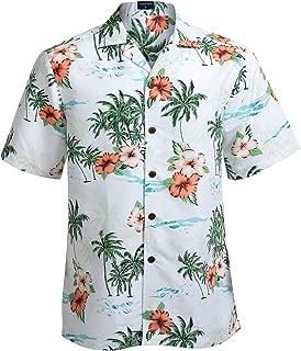 Hawaiian Shirts for Men Short Sleeve Regular Fit Mens Floral Shirts
