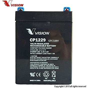 WP2.9-12T 12 Volt 2.9 AmpH SLA Replacement Battery with F1 Terminal