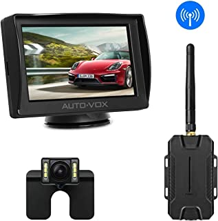 AUTO-VOX M1W Wireless Backup Camera Kit, Super Night Vision (6 LEDs) HD Rear View Camera for Truck, Sedan