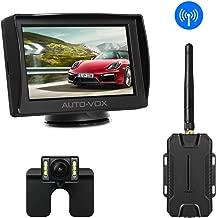 AUTO-VOX M1W Wireless Backup Camera Kit, Super Night Vision (6 LEDs) HD Rear View Camera for Truck, Sedan