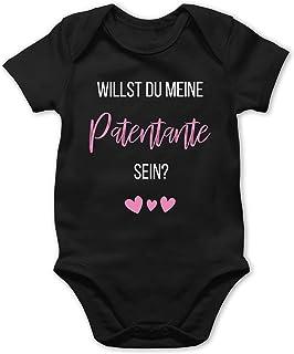 Shirtracer Zur Geburt - Willst du Meine Patentante Sein Rosa - Baby Body Kurzarm für Jungen und Mädchen