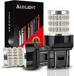 AUXLIGHT 7440 7441 7443 7444 T20 992 W21W LED Bulbs Brilliant Red, Ultra Bright 57-SMD LED Replacement for Brake/Tail Ligh...