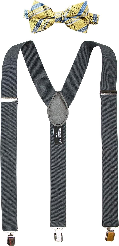 Spring Notion Men's Suspenders and Orange Bow Tie Set