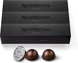 Nespresso Capsules VertuoLine, Intenso, Dark Roast Coffee, 30 Count Coffee Pods, Brews 7.8 Ounce