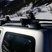 con corrimano alto aerodinamiche e super silenziose Barre portatutto portapacchi FARAD in alluminio nere MODELLO COMPACT compatibili con SUZUKI JIMNY EVOLUTION dal 2013 al 2018