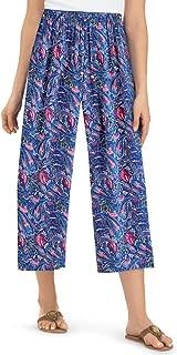 women's printed capri pants