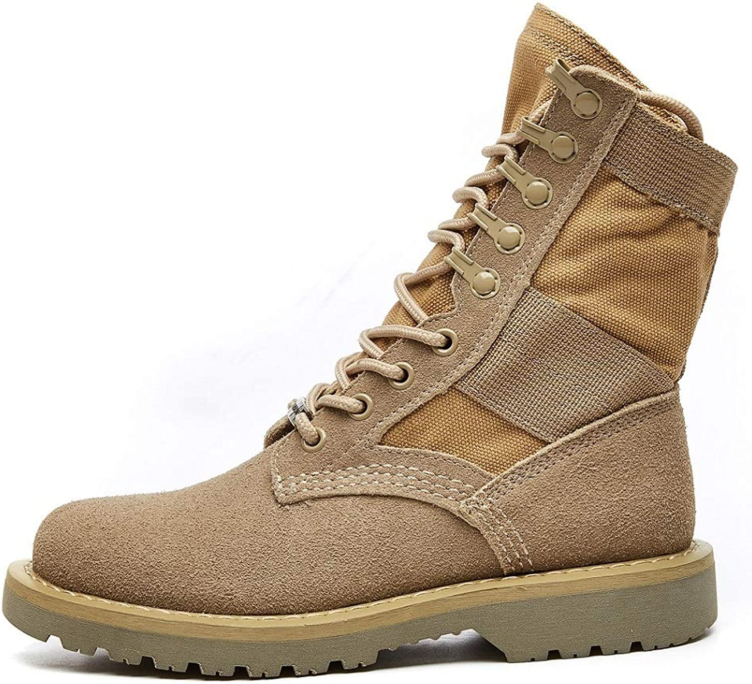 LIANGXIE Women's Ankle Outdoor Hiking Boots Rhubarb Boots High Help Desert Boots Women's Leather Workwear Boots Men's Boots Couple Boots Retro British Wind