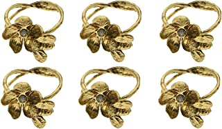 Decozen Napkin Rings for Dining Table Kitchen Table Coffee Table in Bee Design Gold Finish Al Fresco Dining for Everyday Use Dinner Party and Occasional Use Set of 6