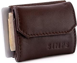 【SIMPS】財布 極小財布 小さい財布 高級本革 デニム メンズ レディース ユニセックス 職人手作り まとめて 収納 コンパクト 紙幣ポケット カードバンド 小銭入れ 専用化粧箱入り